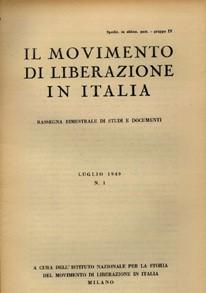 La copertina della rivista Italia Contemporanea dal 1949 al 1974