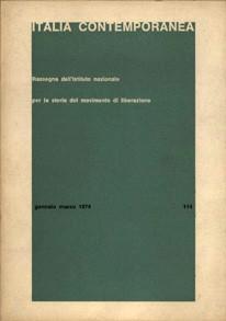 La copertina della rivista Italia Contemporanea dal 1974 al 1996